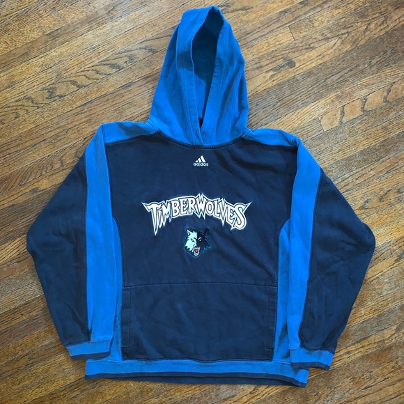 price reduced 100% quality excellent quality Minnesota Timberwolves Adidas Hoodie Size Small